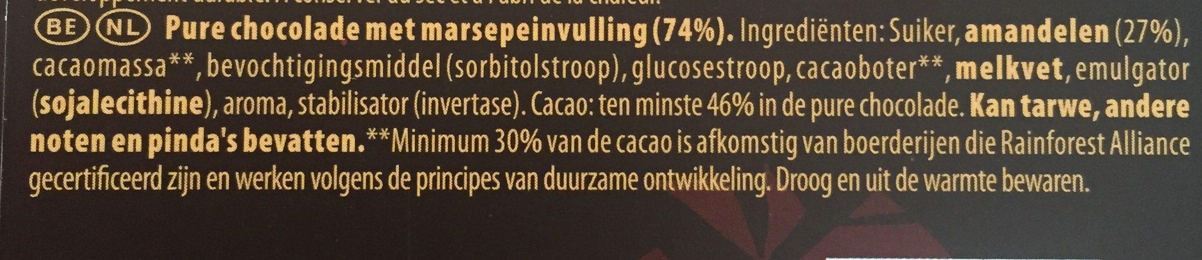 Fusion Pâte d'Amande Noir - Ingrediënten - nl