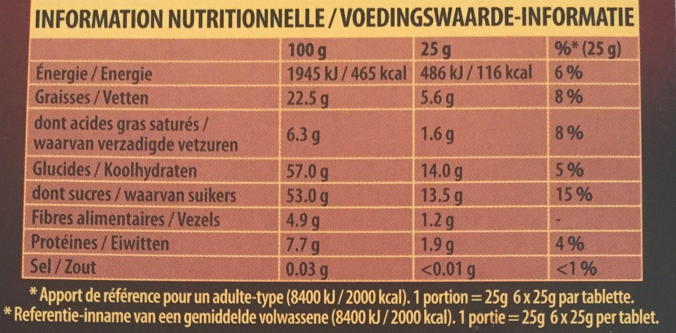 Fusion Pâte d'Amande Noir - Voedingswaarden - nl