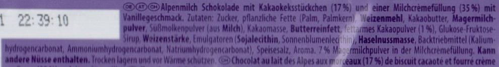 Milka & Oreo - Ingrédients - de