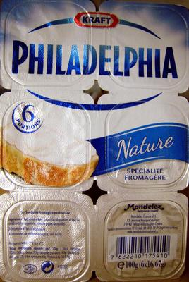 Philadelphia (6 portions) Nature (23,5% MG) - 100 g - Kraft - Product - fr