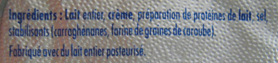Philadelphia (6 portions) Nature (23,5% MG) - 100 g - Kraft - Ingredients - fr