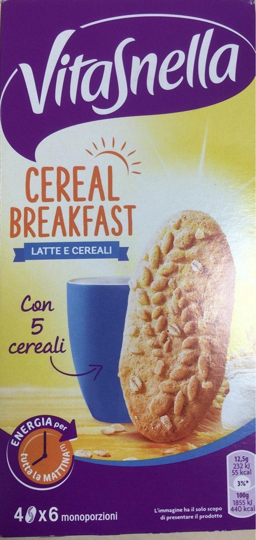 Vitasnella Cereal Breakfast Latte E Cereali 300g - Product - fr