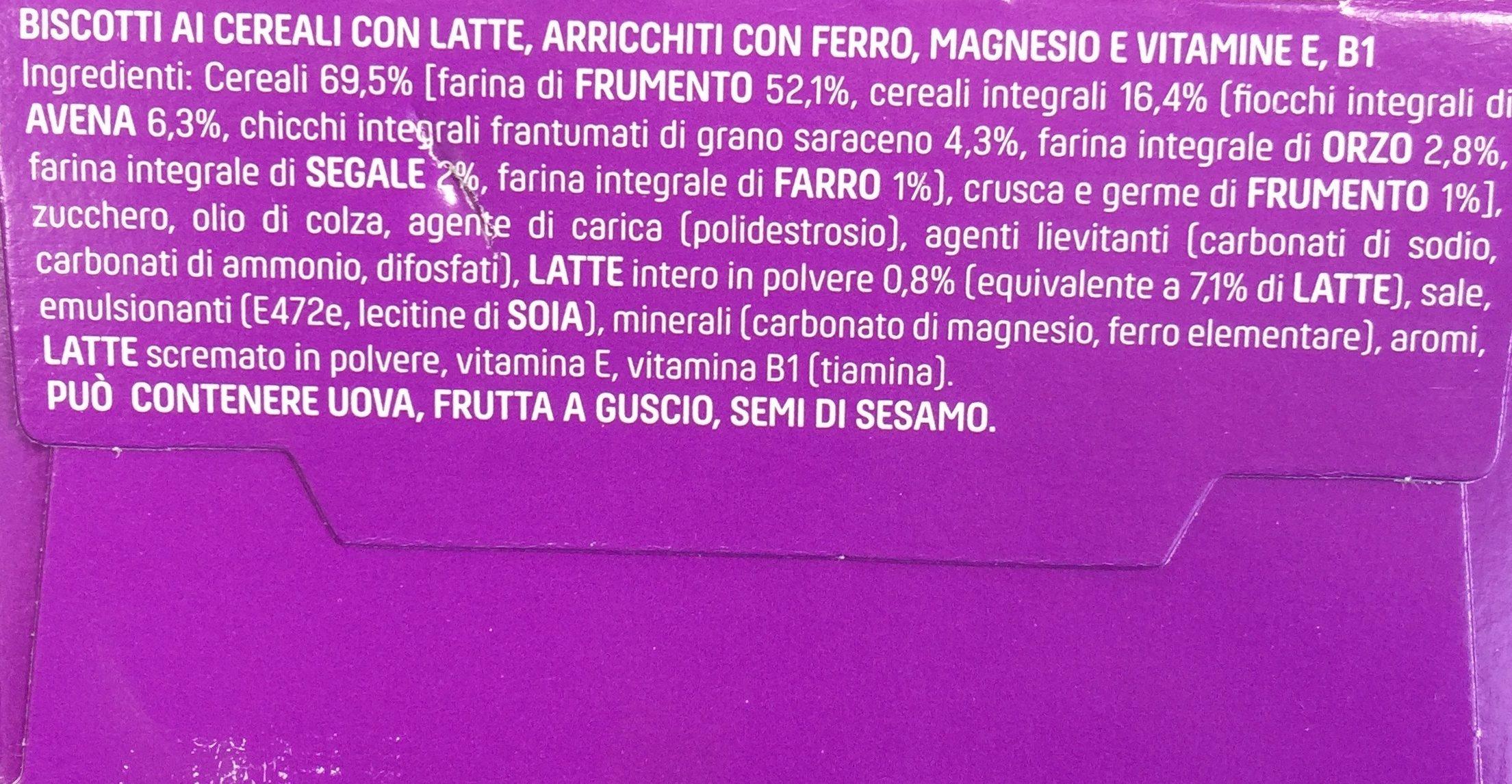 Vitasnella Cereal Breakfast Latte E Cereali 300g - Ingredients - fr