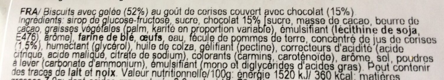 Pim's Jaffa cake - Ingrédients - fr