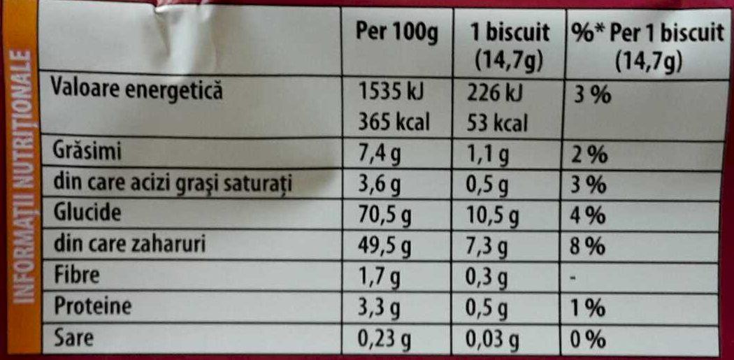 Pim's Jaffa cake - Informations nutritionnelles - ro