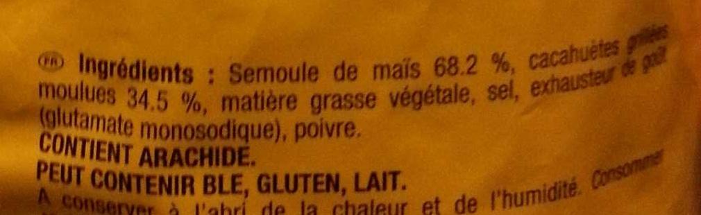 Croustilles Cacahuète - Ingrédients - fr