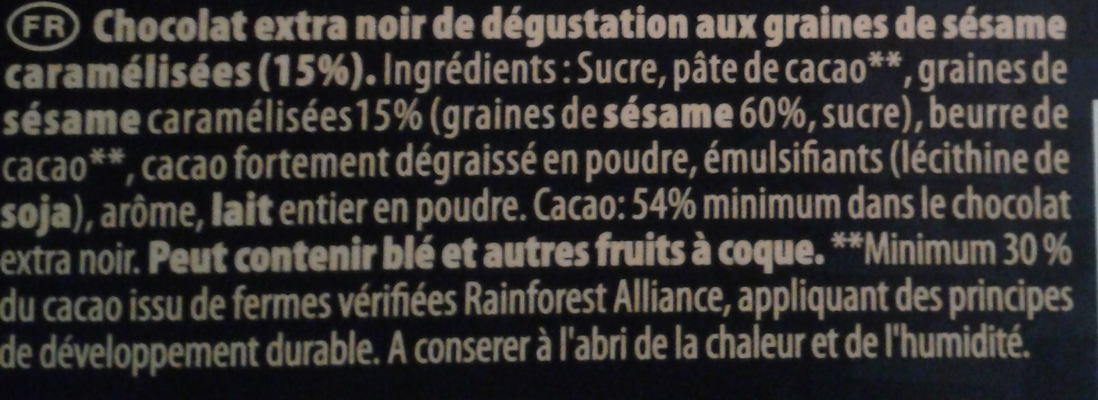 Sésame Noir  - Ingredients