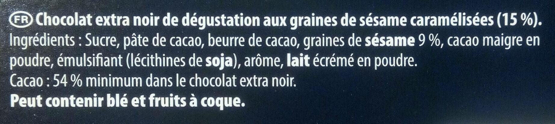 Sésame Noir - Ingredients