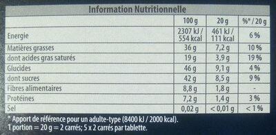 Sésame Noir - Nutrition facts