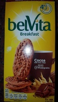 Belvita breakfast biscuits-breakfast cocoa with choco chip - Produit - en
