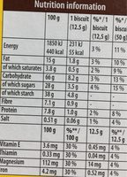 Belvita breakfast biscuits-breakfast cocoa with choco chip - Nutrition facts - en