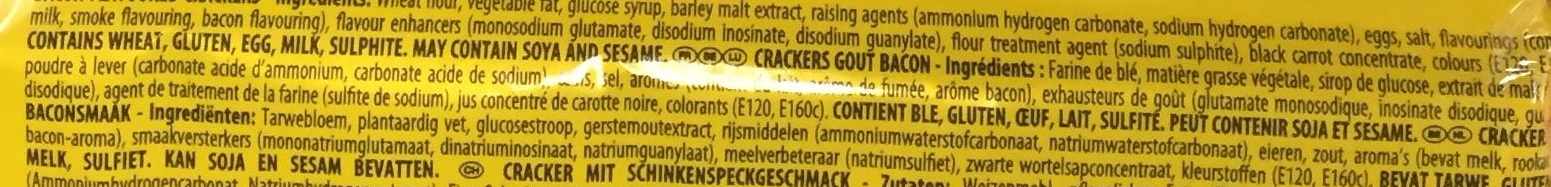 Tuc goût Bacon - Ingredients