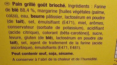 Le pain grillier - Ingredienti - fr