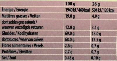 Caramel Fudge, lot de 2 - Nutrition facts