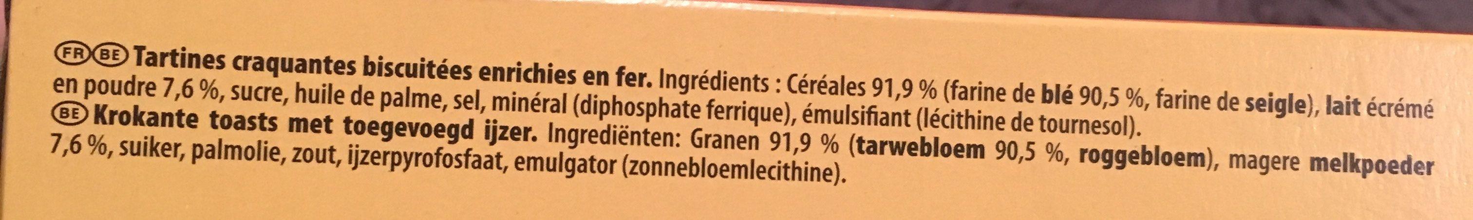 Cracotte gourmande 2 sachets fraicheur - Ingredients