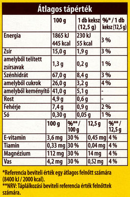 belVita JóReggelt! Gyümölcsös-müzlis - Informations nutritionnelles