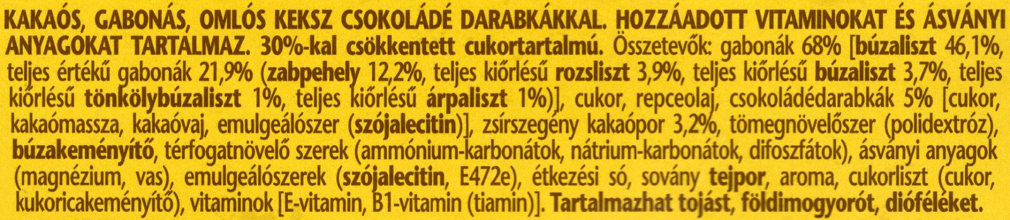 belVita JóReggelt! Kakaós -30% cukor - Ingredients - en