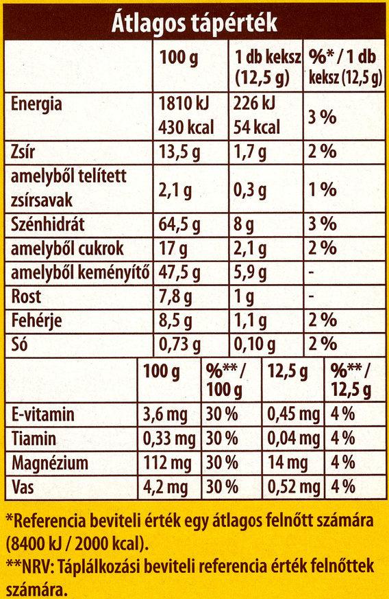 belVita JóReggelt! Kakaós -30% cukor - Nutrition facts - en