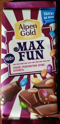 MAX FUN (арахис, разноцветные драже, карамель) - Produit - ru