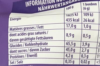 Choco Bonbon Caramel - Informations nutritionnelles - fr