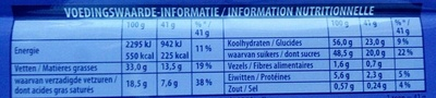 Milka & Oreo - Informations nutritionnelles - fr