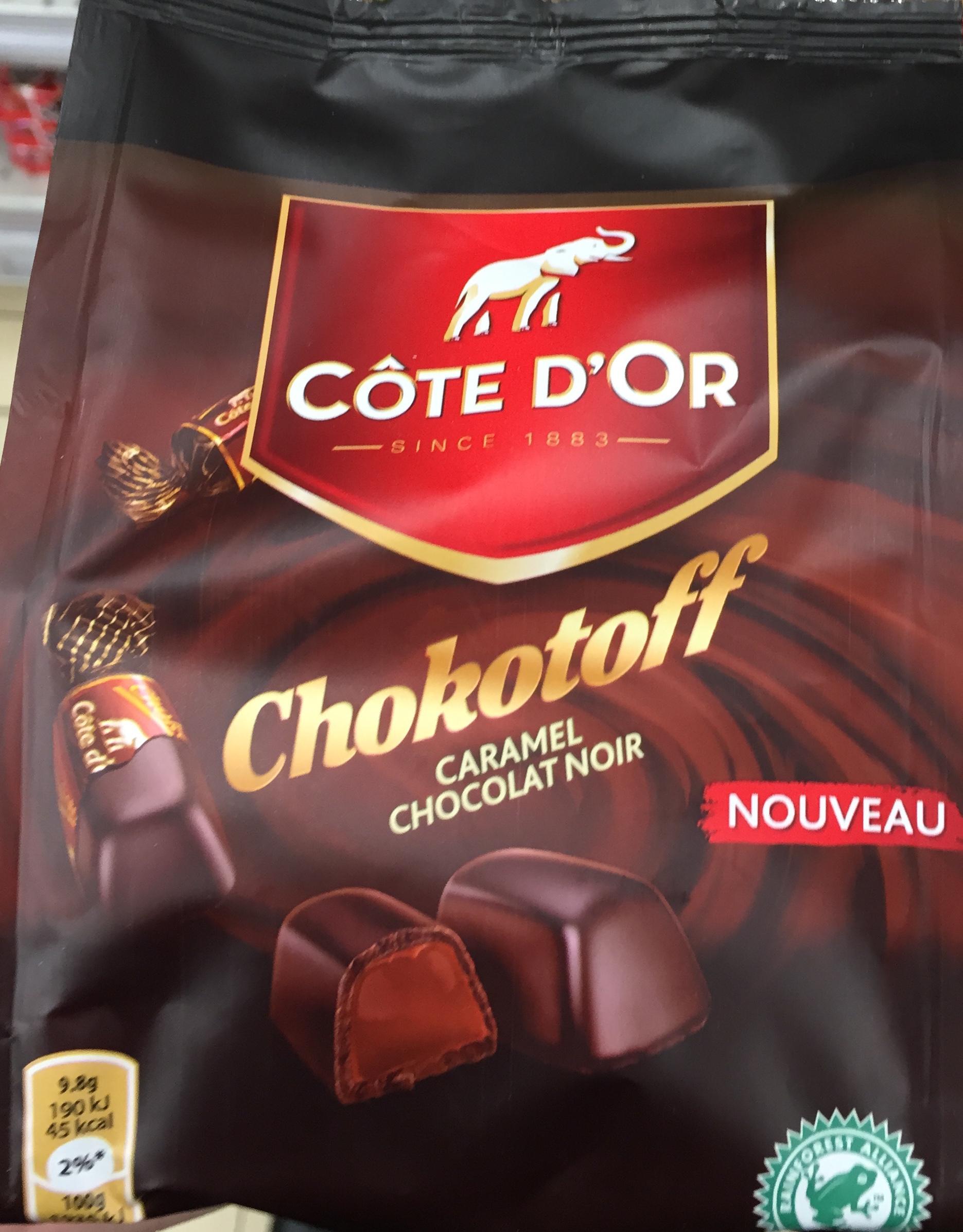 Chokotoff Caramel Chocolat Noir Côte Dor 185 G