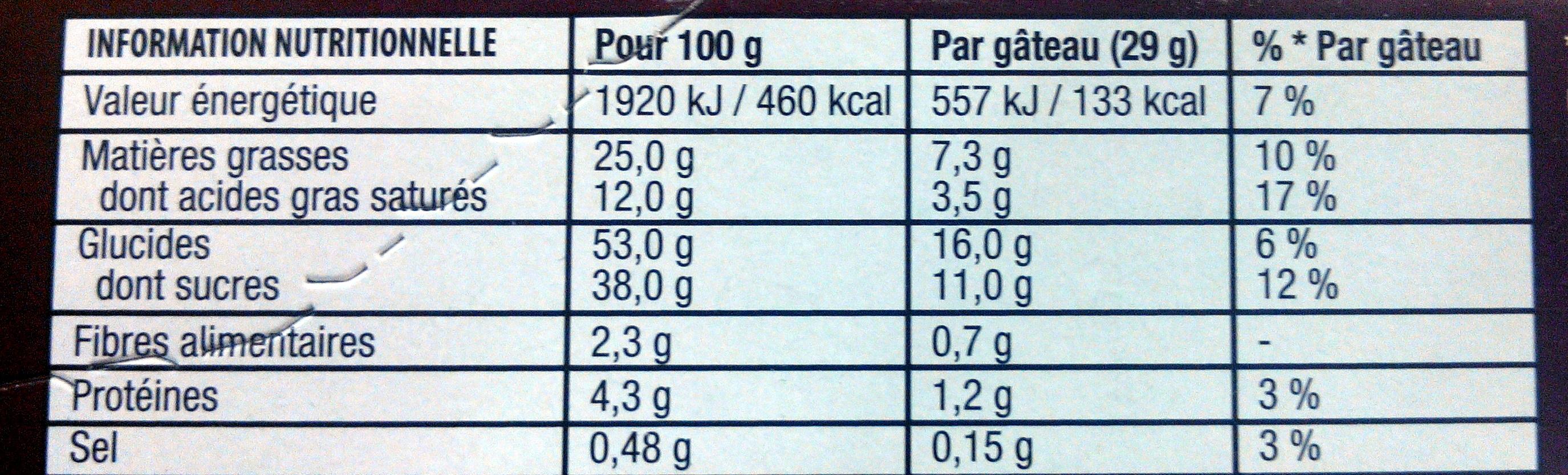 Napolitain signature chocolat - Valori nutrizionali - fr