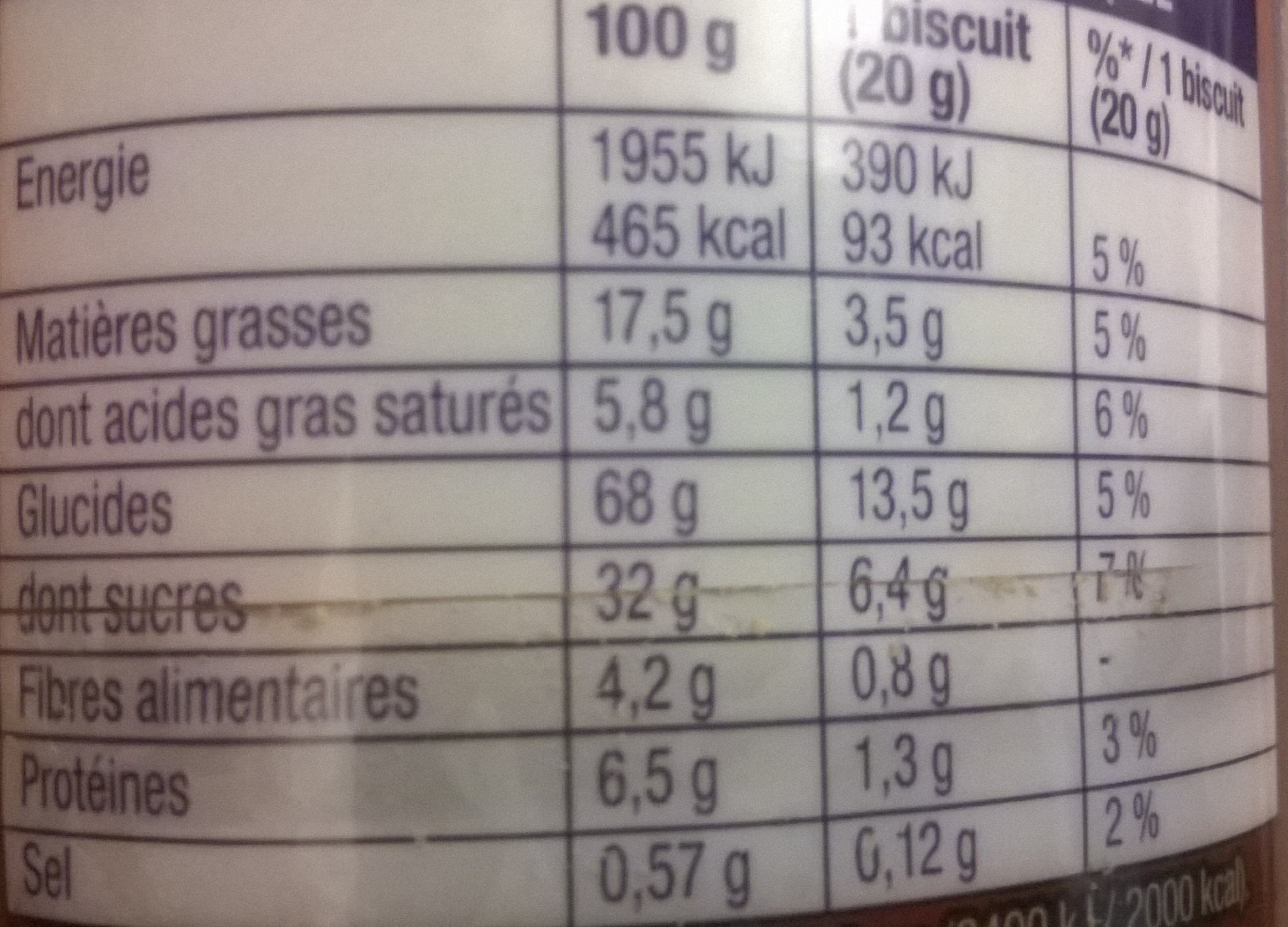 chico do brazil - Nutrition facts