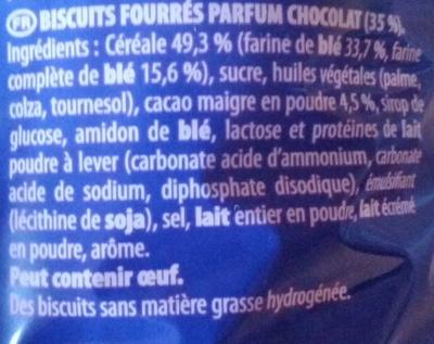 Prince goût chocolat - Ingrediënten