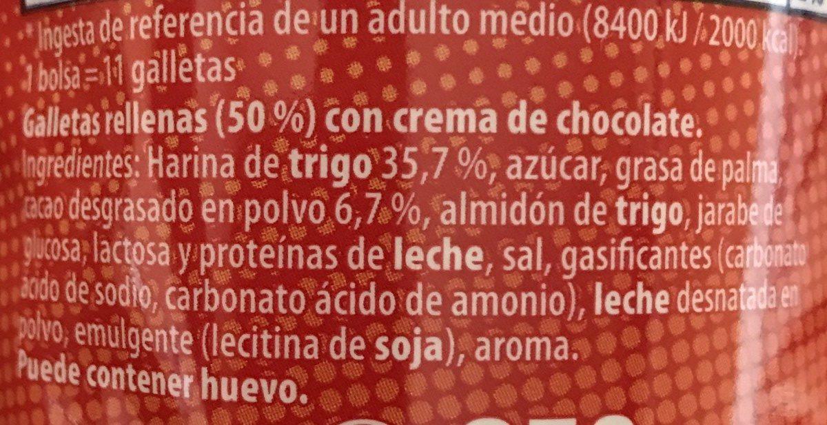 Principe maxi choc - Ingredientes - fr