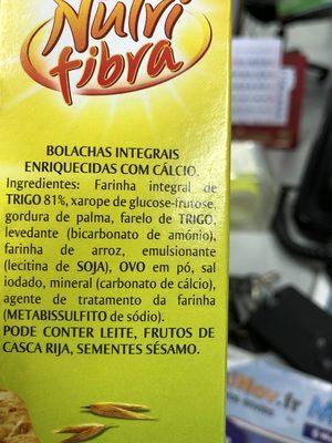 Nutri fibra - Ingrédients - fr