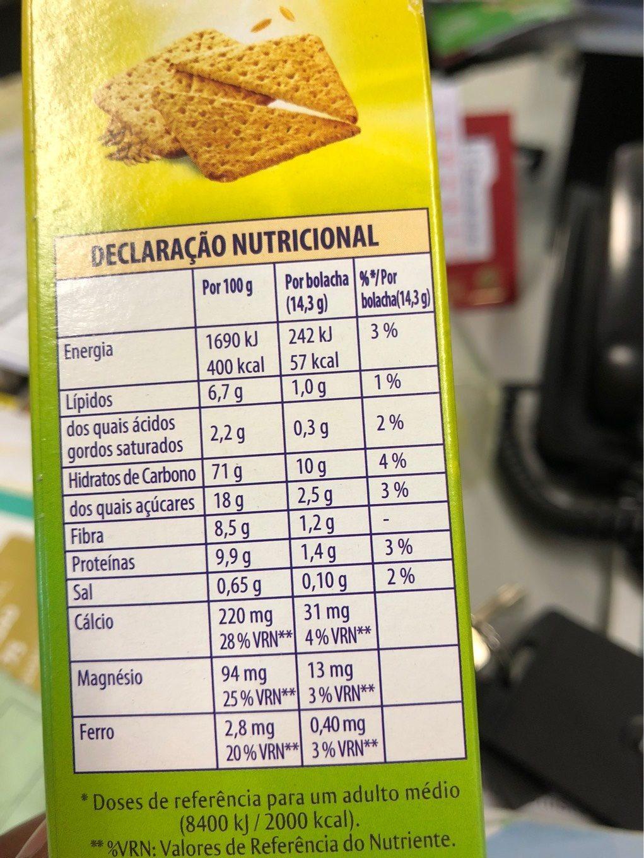 Nutri fibra - Informations nutritionnelles - fr
