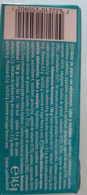 Trident Eucalipto - Ingrediënten