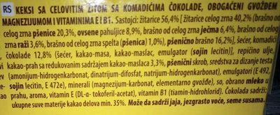Breakfast Chocolate - Ingredients - sr