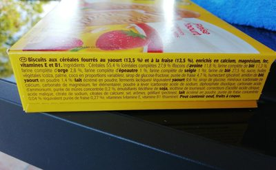 BelVita Duo Fourré Fraise Yaourt - Ingredients - fr