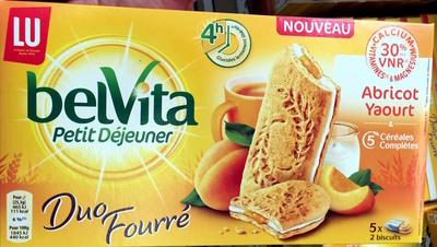 BelVita Petit Déjeuner Duo Fourré Abricot Yaourt & 5 céréales complètes - Produit