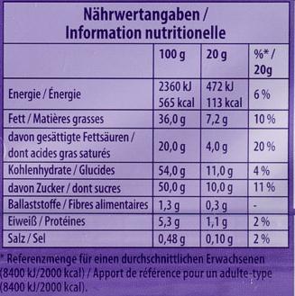 Milka & Chips Ahoy! - Informations nutritionnelles - de