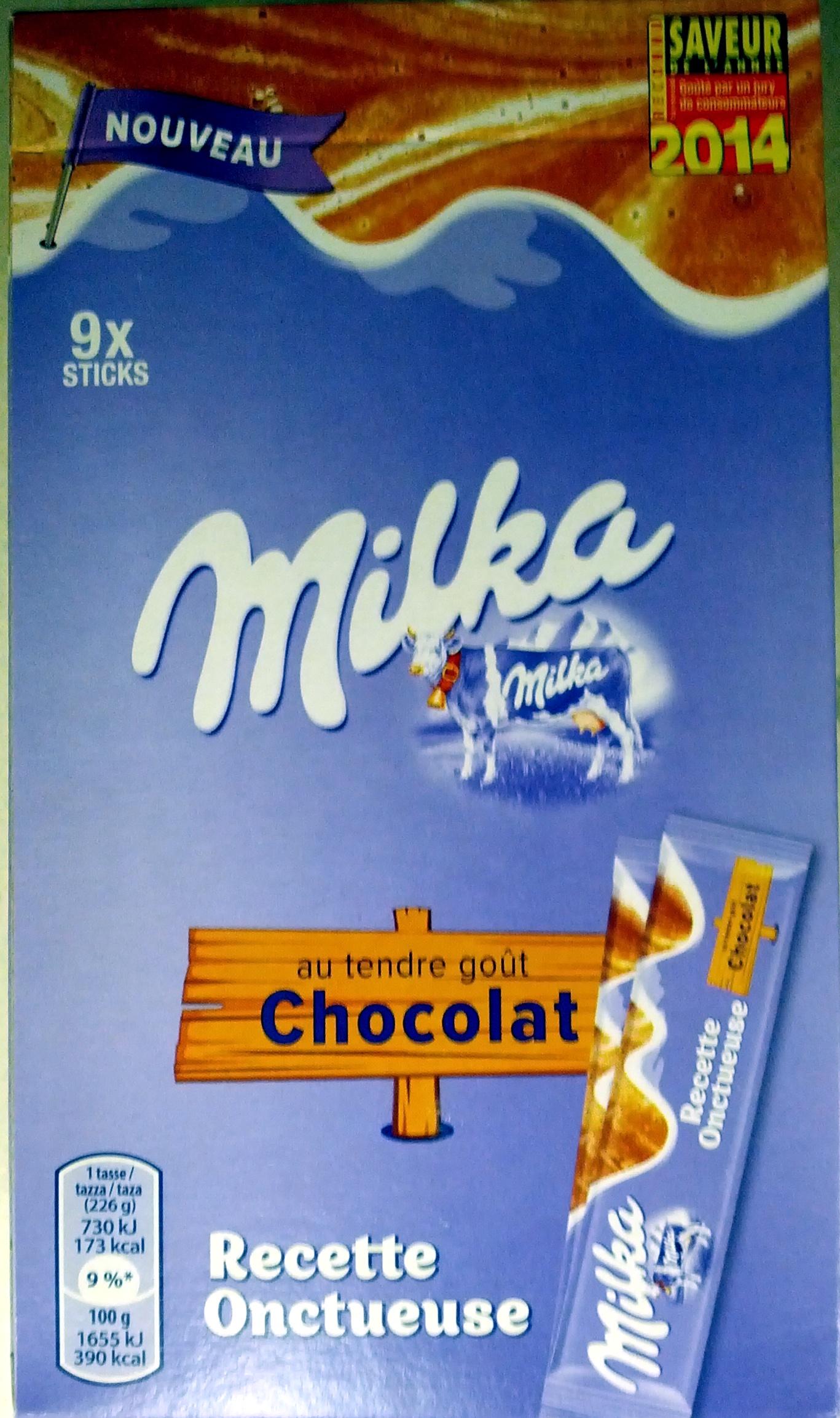 Milka Recette onctueuse au tendre gout chocolat - Produit