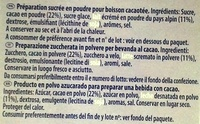 Milka Recette onctueuse au tendre gout chocolat - Ingredientes