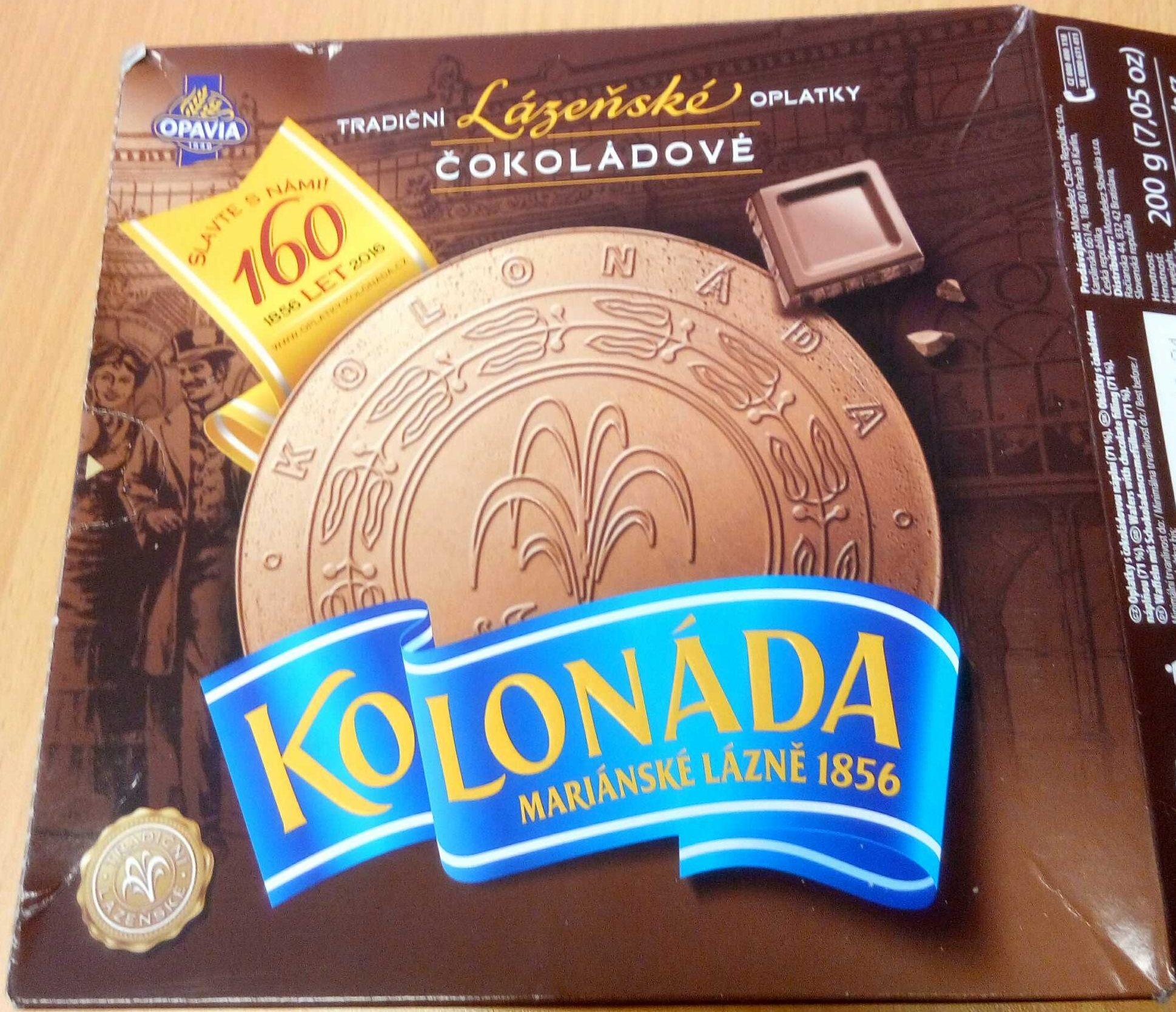 Lázeňské oplatky Kolonáda - čokoládové - Product - cs