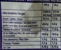 Chips ahoy! - Informations nutritionnelles - en