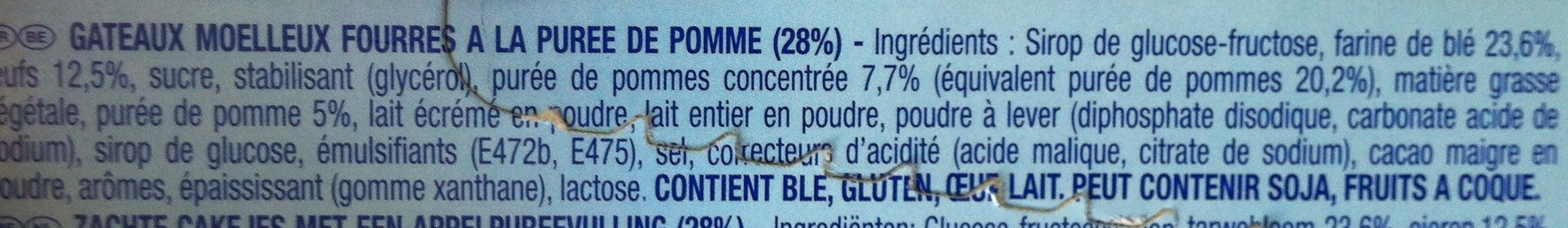 Lulu l'ourson Pomme - Ingredients - fr