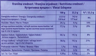 Alpen milch - Nutrition facts - sr