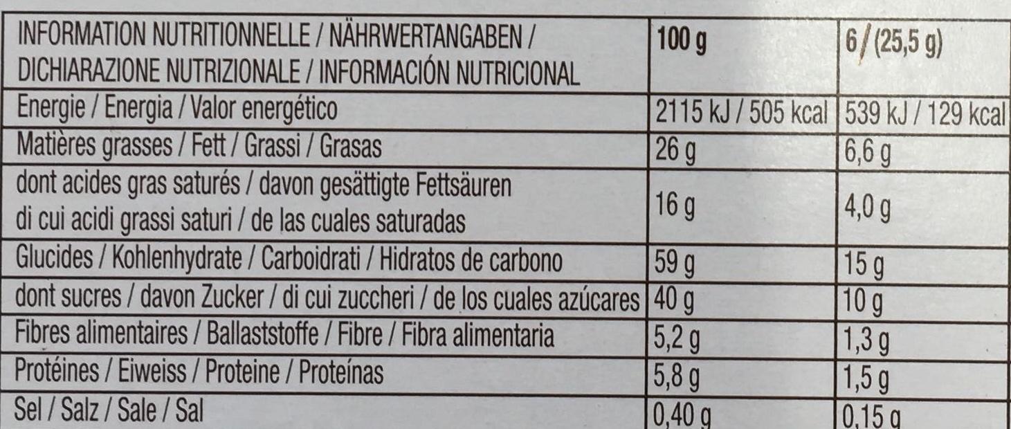 Mikado King Choco chocolat saveur Caramel - Informations nutritionnelles - fr