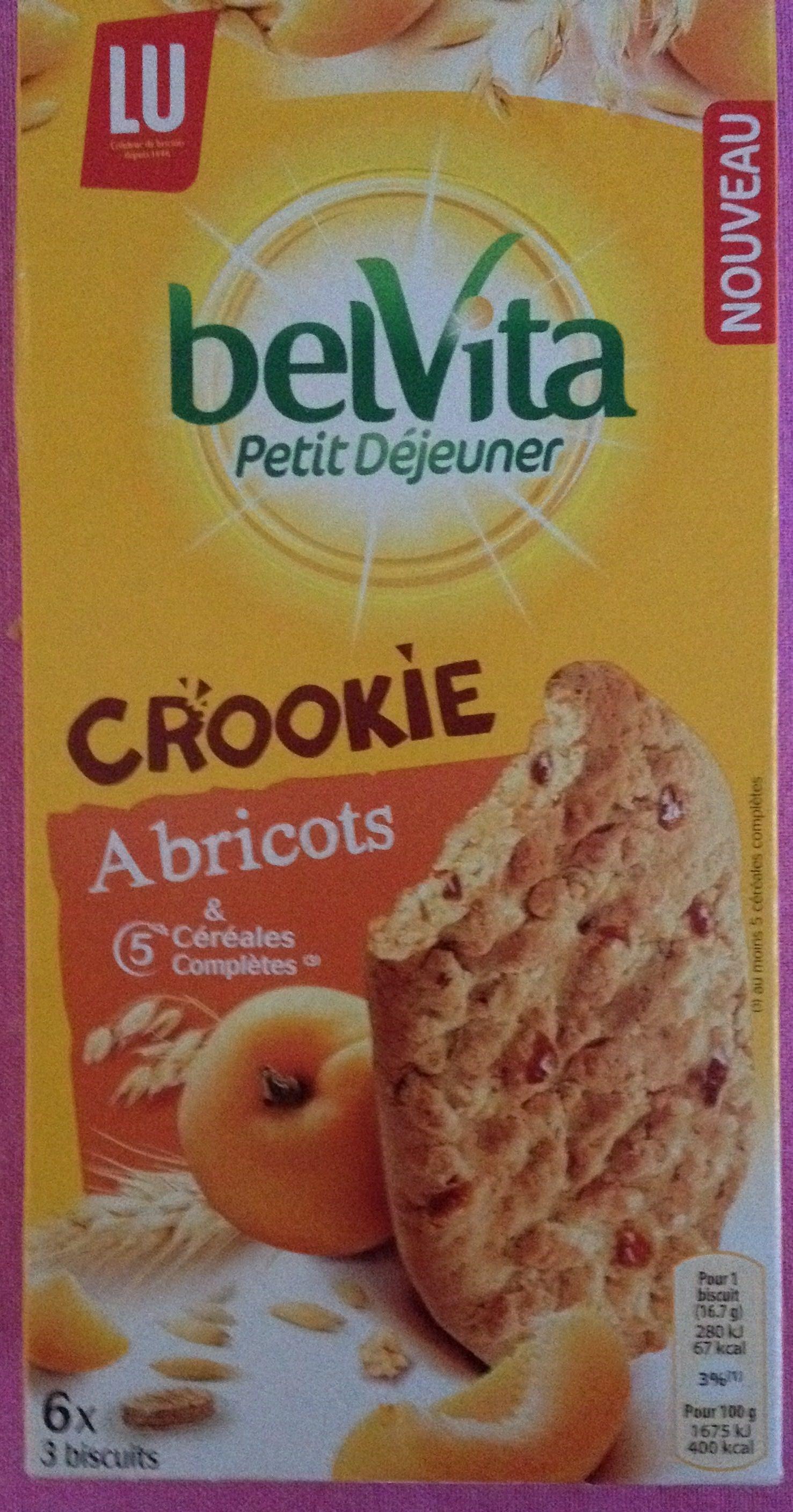 Belvita Crookie Abricots & 5 céréales complètes - Produit