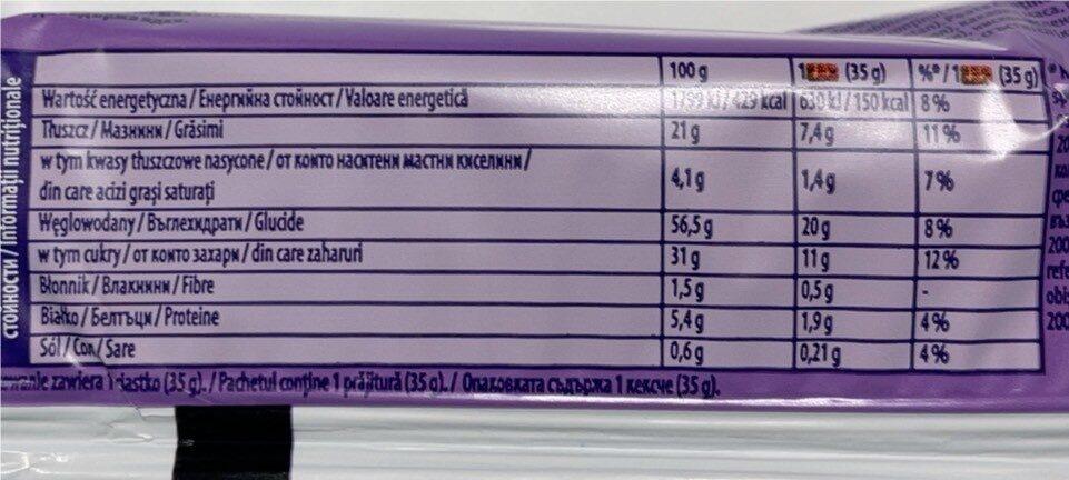 Cake & Choc - Nährwertangaben - fr