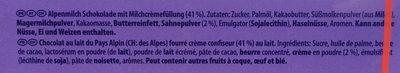Calendrier de l'Avent + Calendrier Digital - Ingrédients - fr