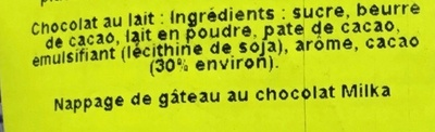 Glazing - Ingrédients - fr