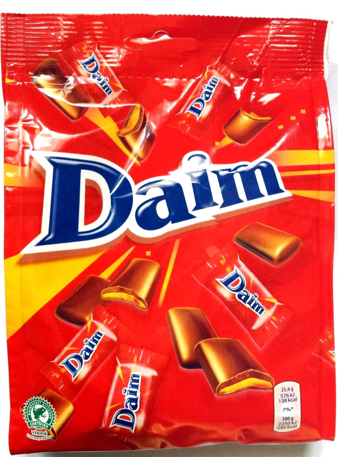 Daim mini chocolate pieces milk with caramel crunch - Product