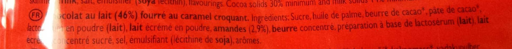 Daim mini chocolate pieces milk with caramel crunch - Ingredients